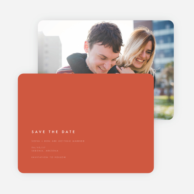 Color Pop Save The Dates - Red
