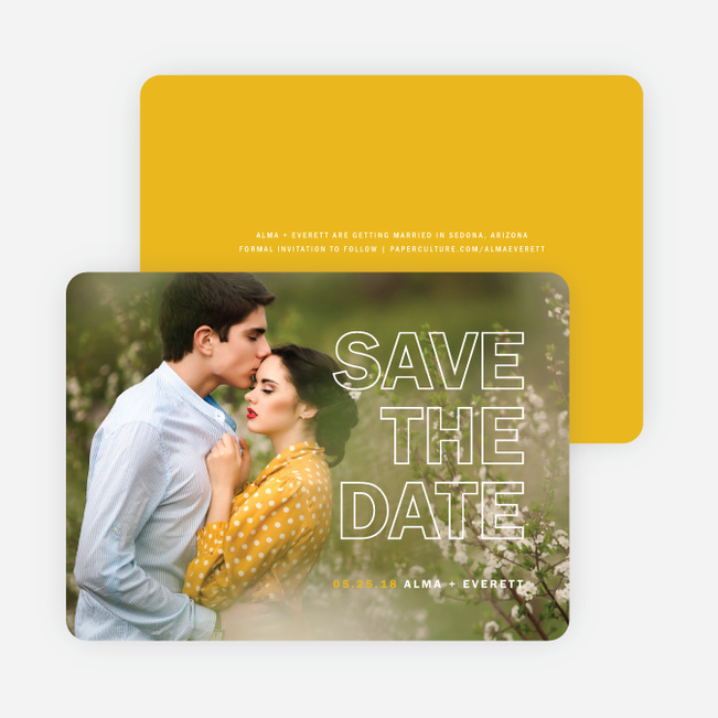 Color Up Save The Dates - Yellow