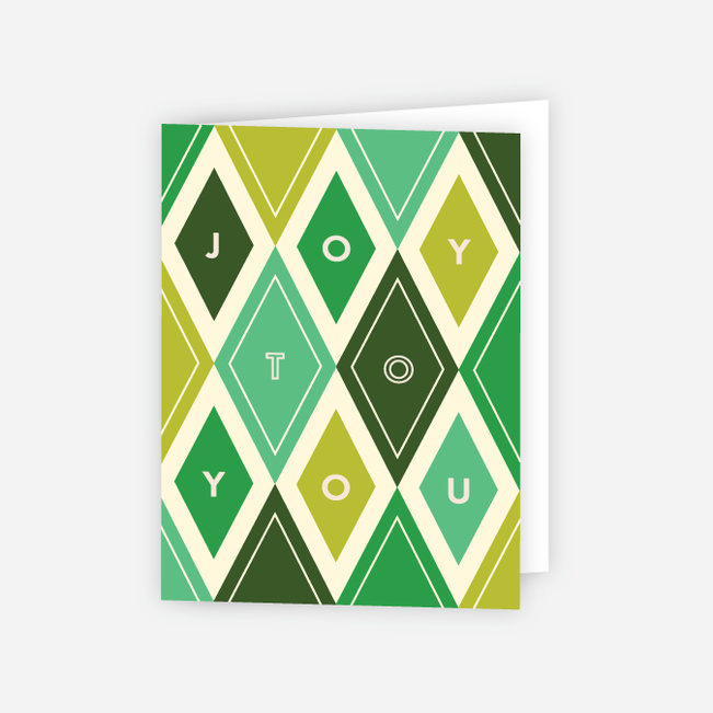 Diamond Galore Corporate Holiday Cards - Green