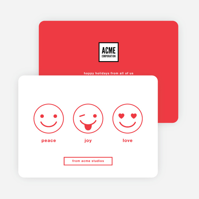 Emoticon fun corporate holiday cards paper culture m4hsunfo Gallery