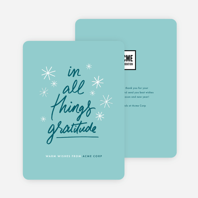 express gratitude corporate holiday cards paper culture - Corporate Holiday Cards