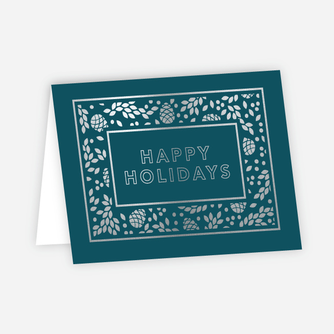 foil holiday decor corporate holiday cards paper culture