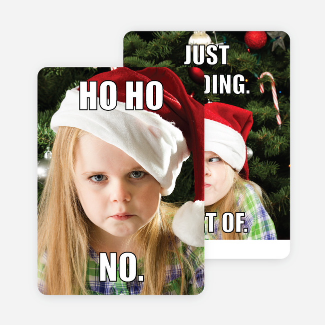 Ho Ho No Christmas Cards - Black