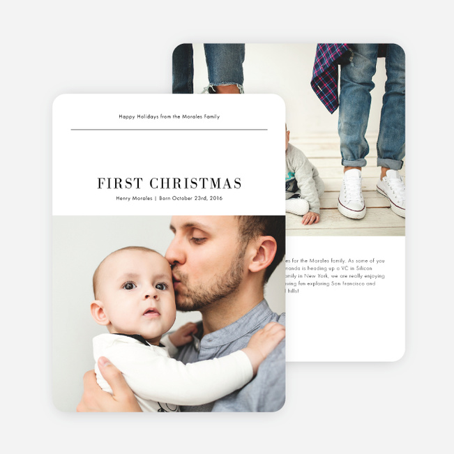 Huge Announcement Christmas Cards - Black