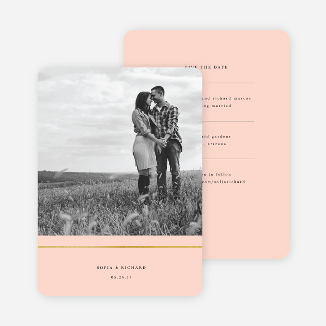 Less is More Save The Dates - Pink