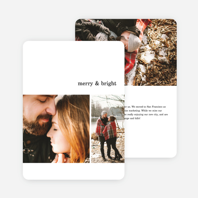 Quick Cheers Family Photo Cards - Black