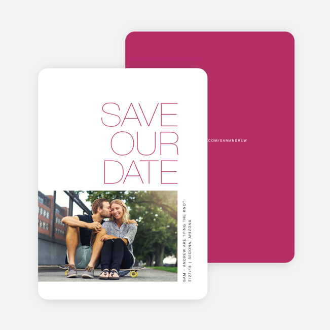Simply Type Save The Dates - Pink