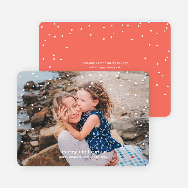 Snow Frame Photo Holiday Cards - Red