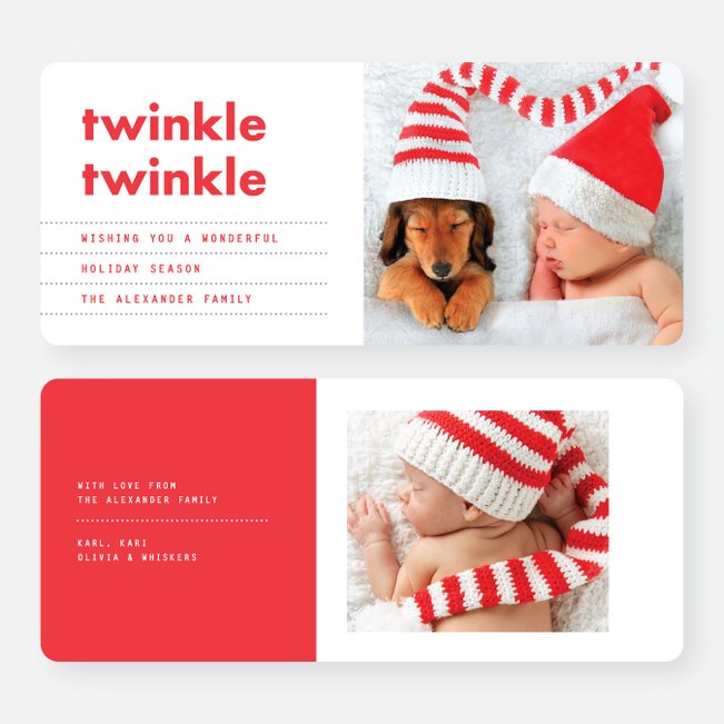 Twinkle Twinkle Holiday Cards - Red