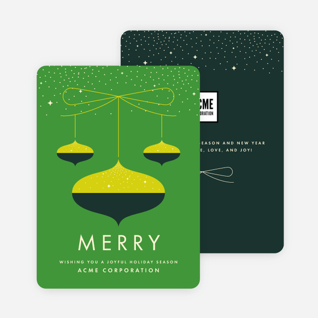 Business holiday cards corporate holiday cards paper culture vintage season corporate holiday cards green m4hsunfo