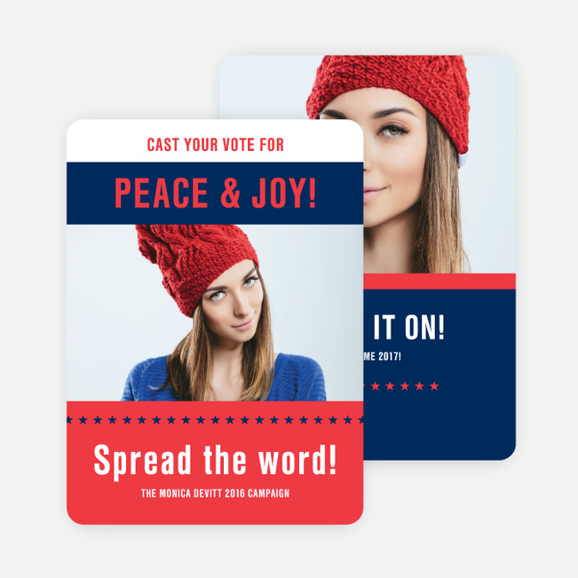 Vote Now Holiday Cards - Red
