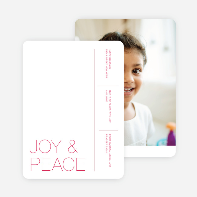 White Space Holiday Cards - Pink