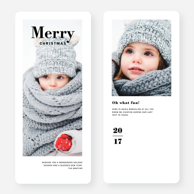 Winter Frame Holiday Cards - Black
