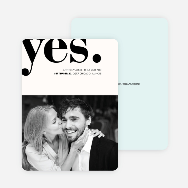Boldly Typographic Wedding Save the Date Cards - Blue