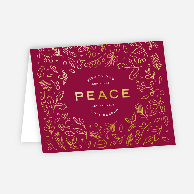 Foil Peace Accents - Red