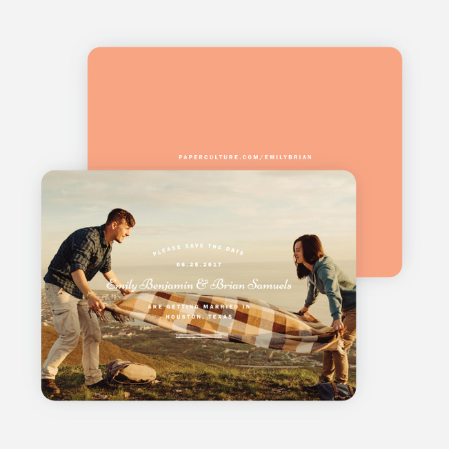 Crossing Paths Wedding Save the Date Cards - Orange