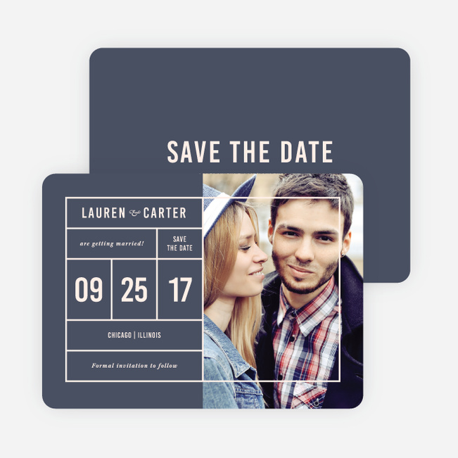 It's a Date Save the Dates - Blue