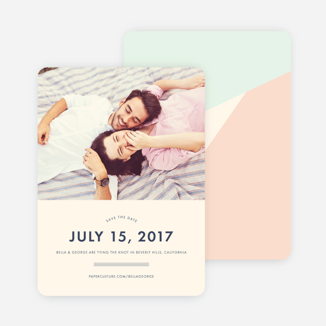 Pieces of the Puzzle Wedding Save the Date Cards - Pink