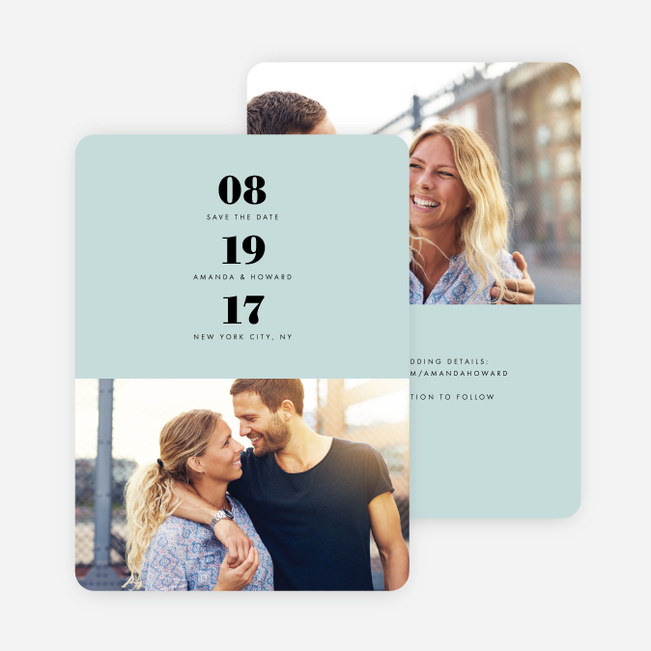Sealed with a Ring Wedding Save the Date Cards - Blue