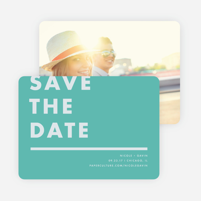 Today's Modernist Save the Dates - Green