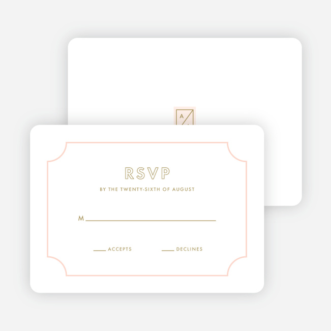 Tomorrow's Crest Wedding Response Cards - Pink