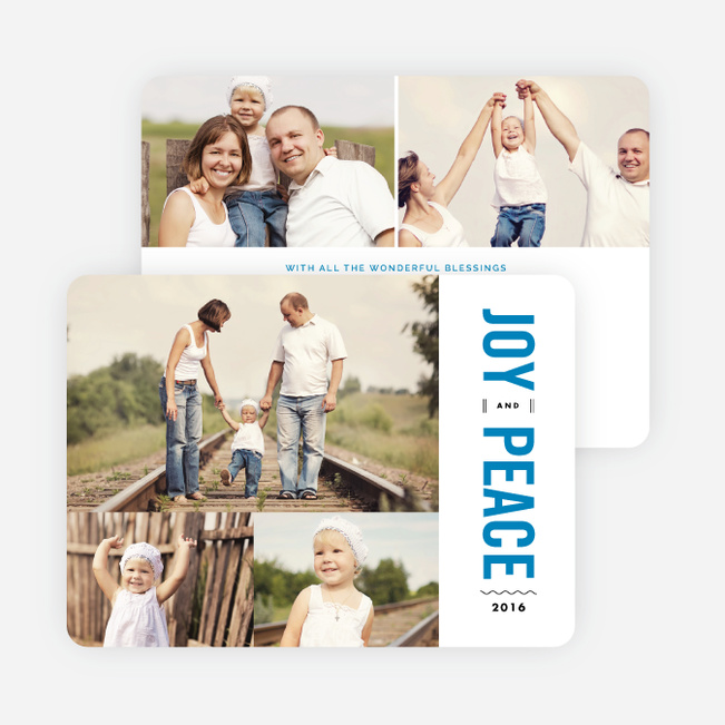 Joy and Peace Holiday Cards - Blue