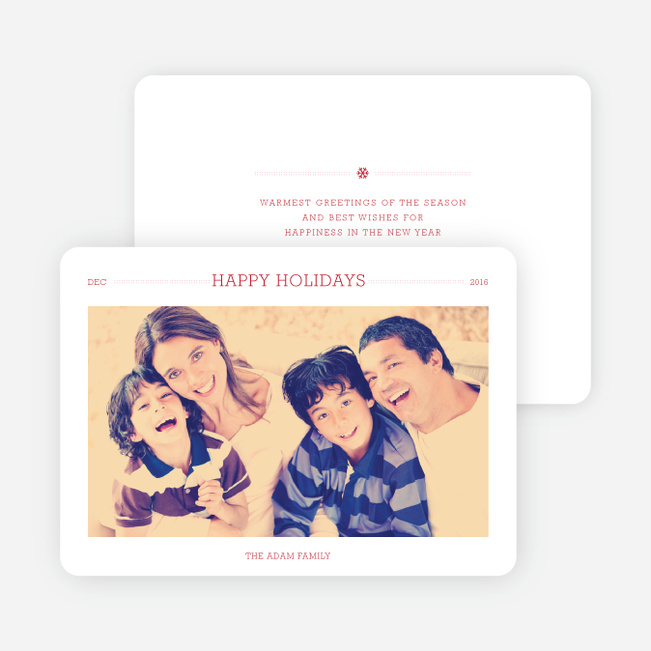 Simply Chic Happy Holiday Cards - Red