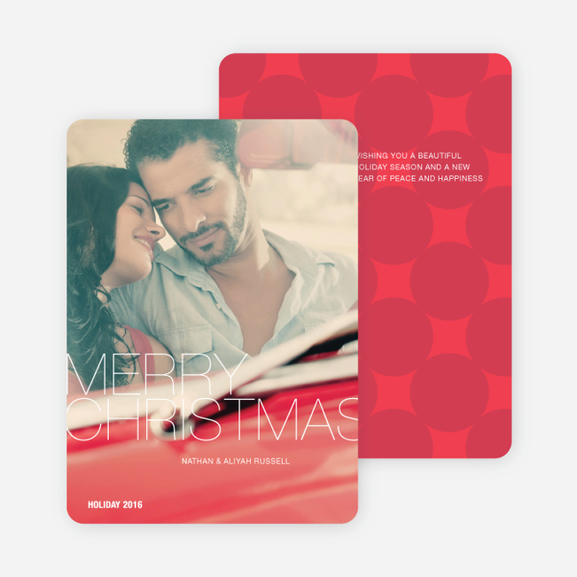 Modern Merry Christmas Cards - Red