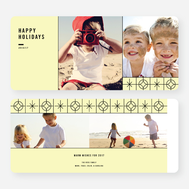 Reach for the Stars Holiday Card - Yellow