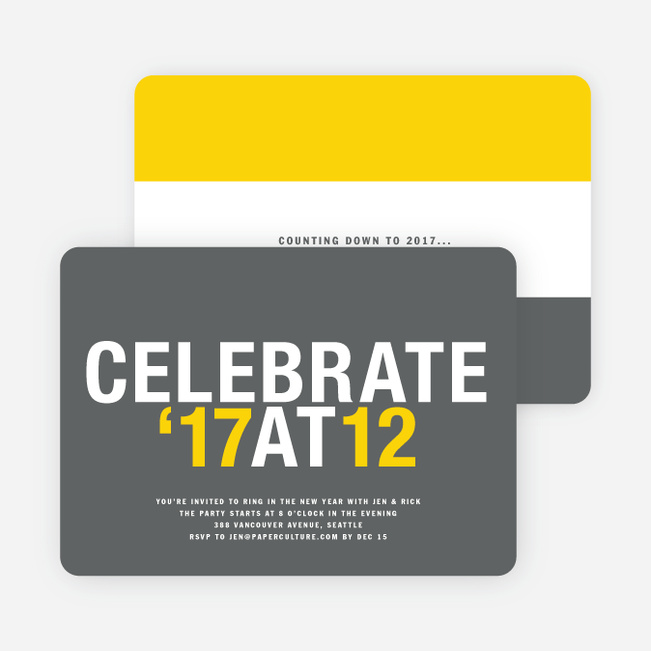 12 at 12 New Year's Invitations - Sun Gold