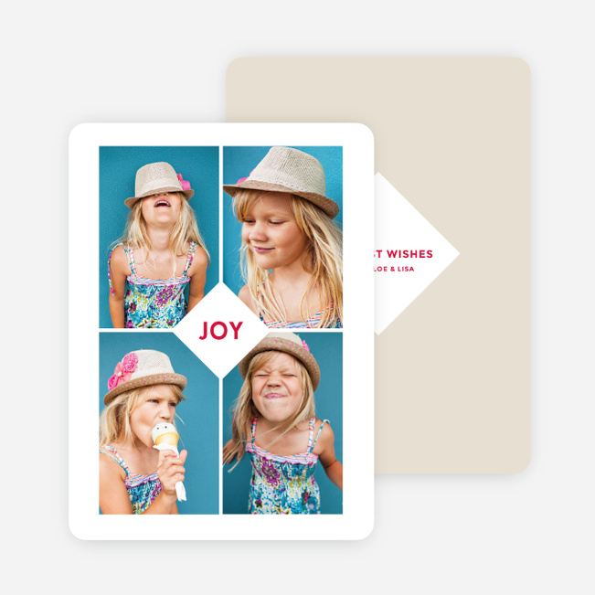Centered Joy Holiday Cards - Beige