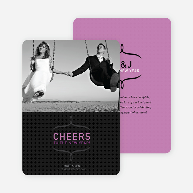 Cheers to the New Year Photo Card - Amethyst