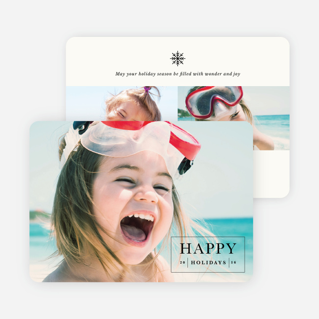 Happy Memories Holiday Cards - Beige
