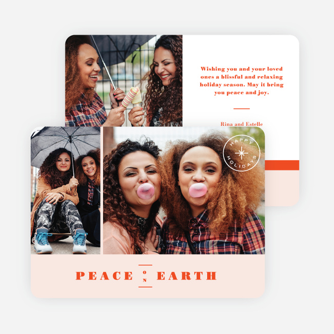 Peace of Earth Holiday Cards - Red