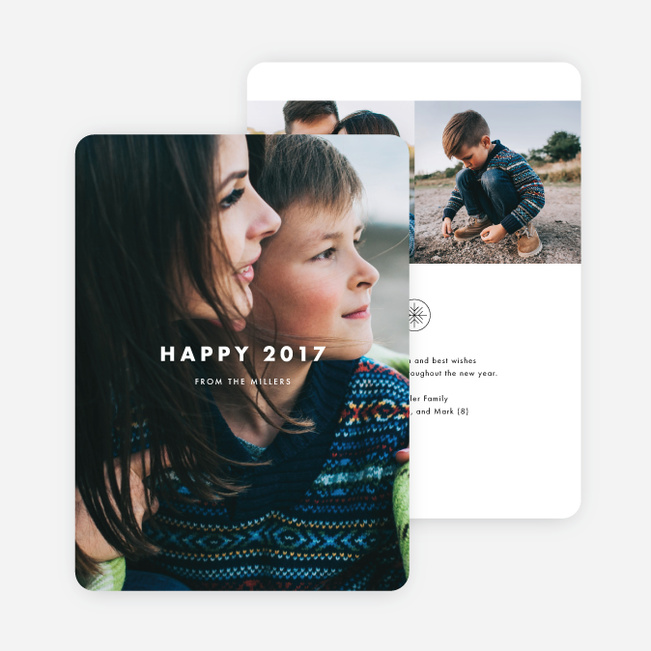 Photo Impression Holiday Cards - Black
