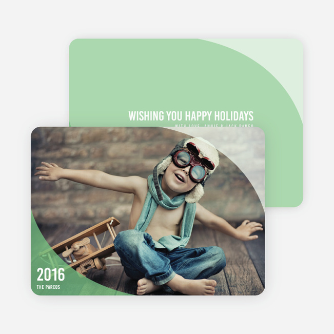 Ocean Waves Holiday Cards - Green