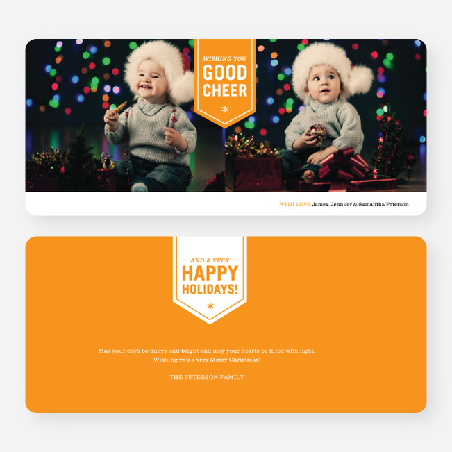 Wishing You Good Cheer Holiday Cards - Orange
