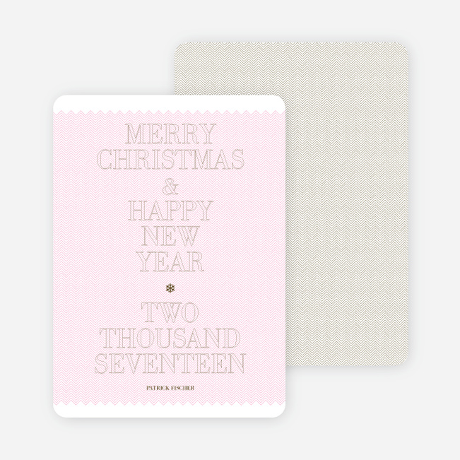 Simple and Bold: Modern Holiday Card - Pink Blush
