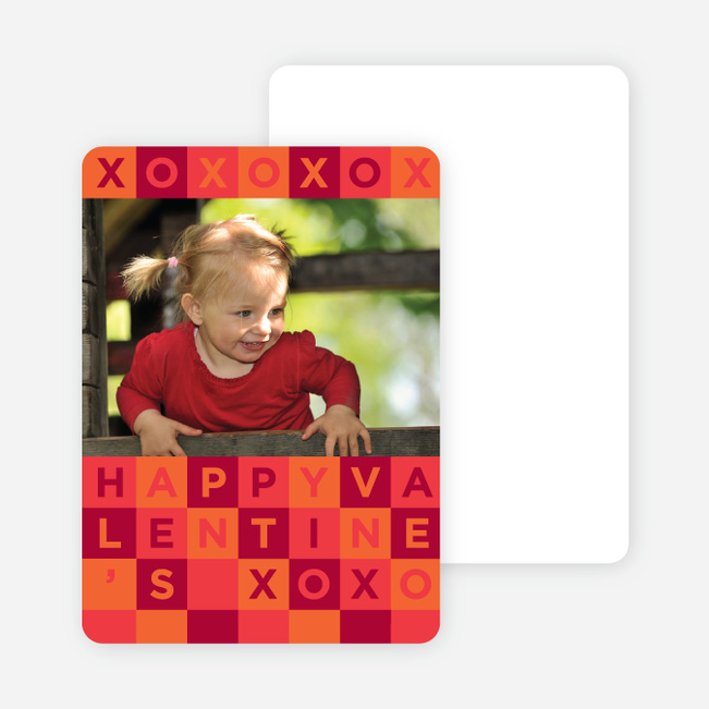 Alphabet Blocks Valentine's Day Cards - Red