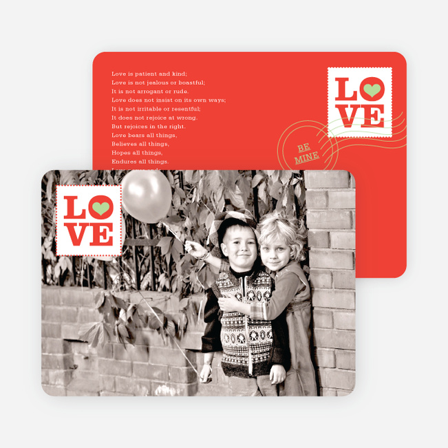 stamp of love valentines day cards tomato red - Photo Valentine Cards