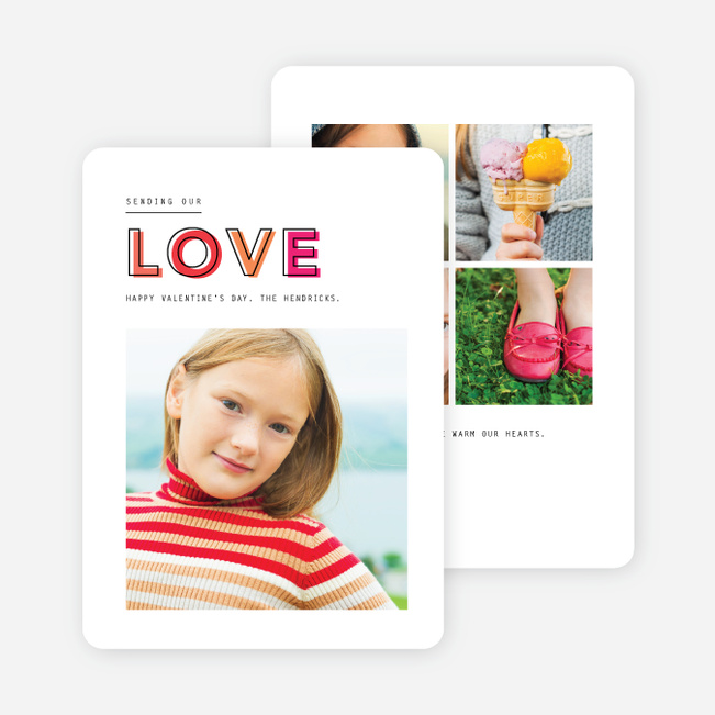 Love Dimensions Valentine's Day Cards - Pink