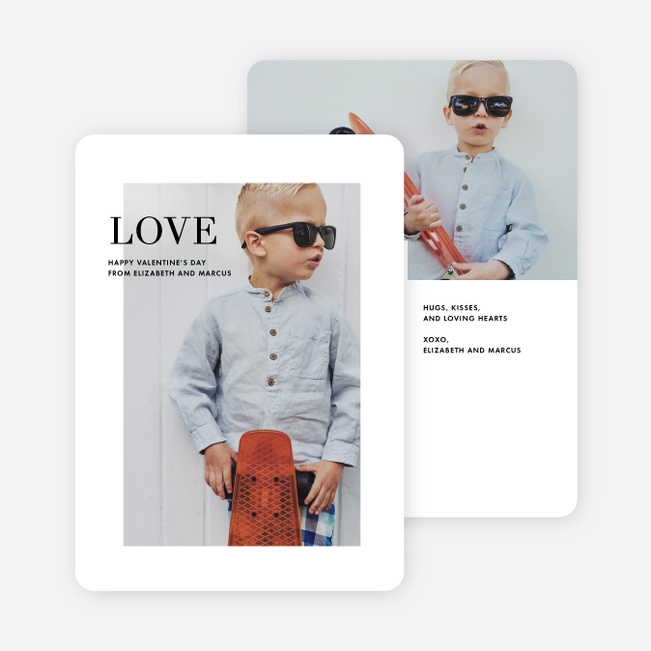 Modern Valentine's Day Cards - Black
