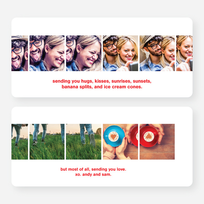 Valentine's Day Photostrip Cards - Red