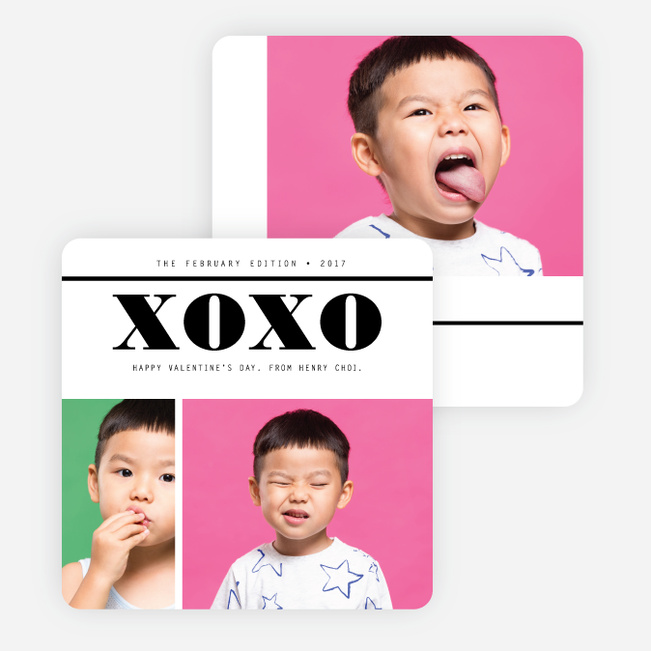 Masthead XO Valentine's Day Cards - Black