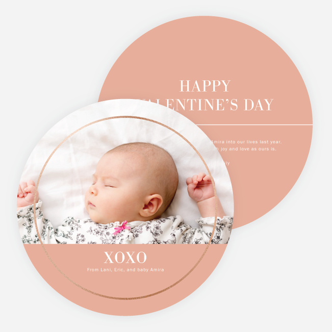 Border of Love Valentine's Day Cards - Pink