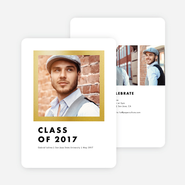 Frame This Graduation Invitations - Yellow