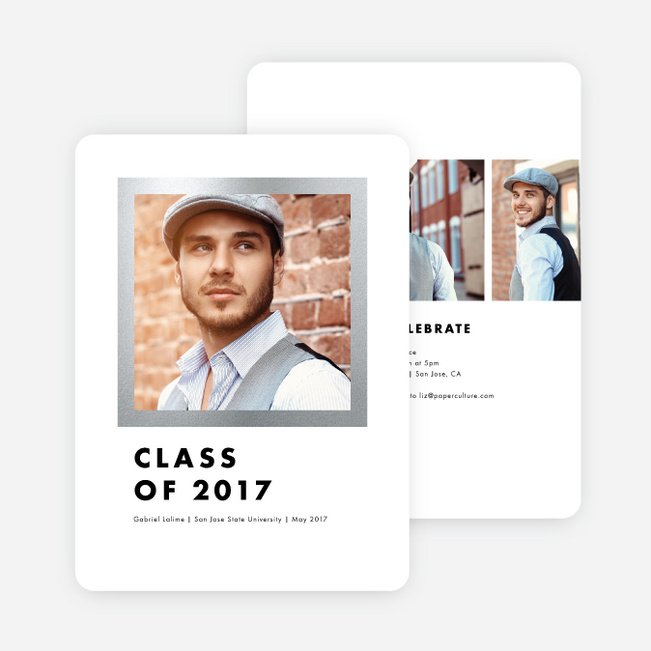 Frame This Graduation Invitations - Gray