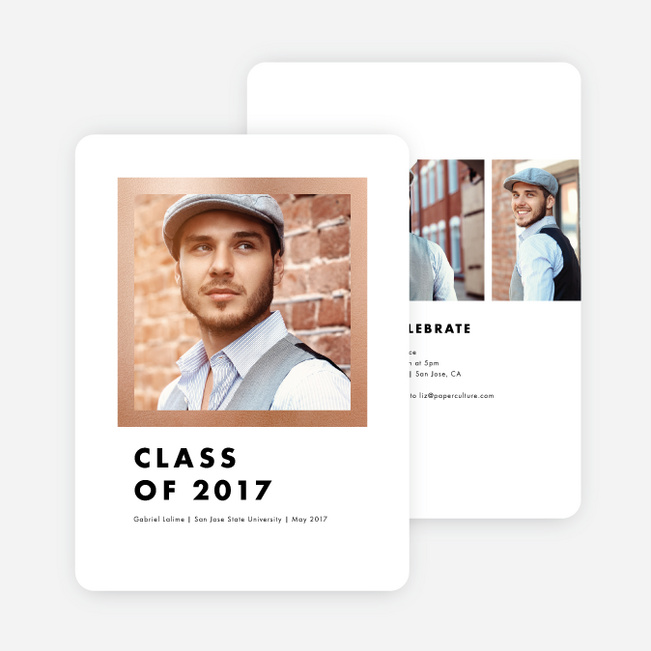 Frame This Graduation Invitations - Pink