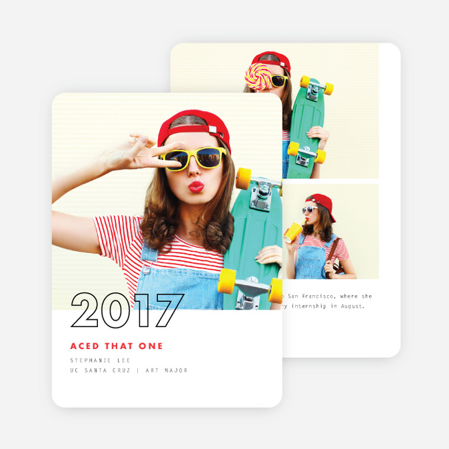 Overlapping Year Graduation Announcements - Red