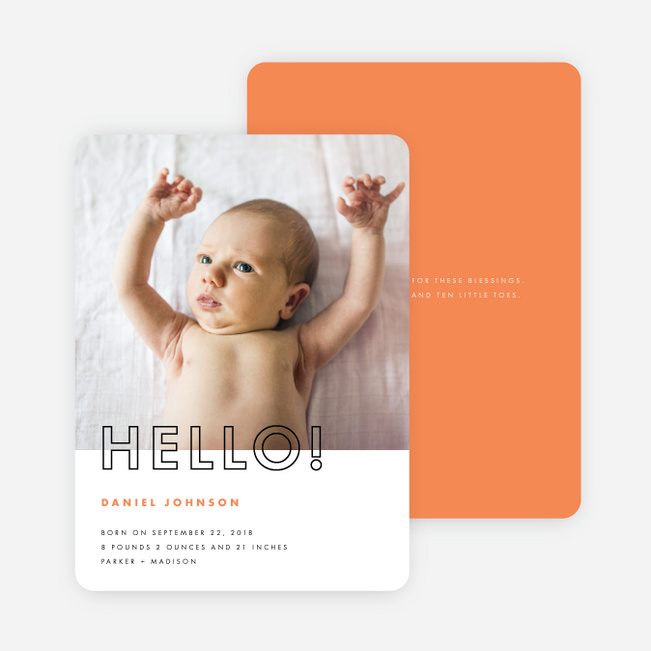 Simply Hello - Orange